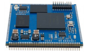 Top view on the SQM4-K70 processor module