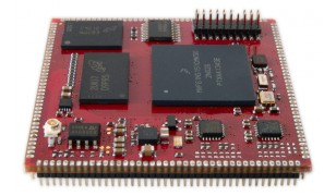 Top view on the SQM4-VF6 processor module